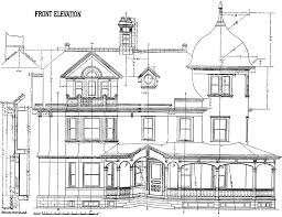 Blue Print Of House Front Elevation Clipart Etc