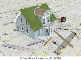 house layout clipart house layout and architectural drawings rendering of the clip
