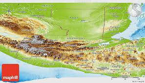 geographical map of guatemala physical panoramic map of guatemala