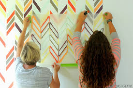 Colorful Stenciled Accent Wall Knock It Off East Coast