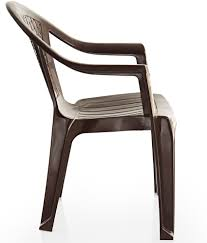 Plastic Furniture Shopping Online India Varmora Medium Back Chair Netted Brown Buy Varmora Medium Back