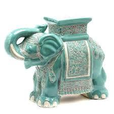 elephant end tables ceramic ceramic elephant ceramic elephant plant stand or side table white