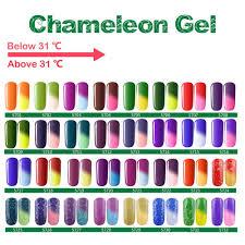 amazon com eleacc temperature changing colour nail soak off uv