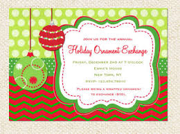 ornament exchange invitation modern