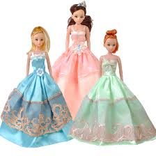 5 pack princess wedding dress party dress clothes gown for
