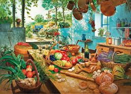 mother u0027s kitchen u0027 wooden jigsaw puzzle beautiful colourful