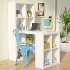 Desk And Bookshelf Combo Zipcode Design Kayla Writing Desk U0026 Reviews Wayfair