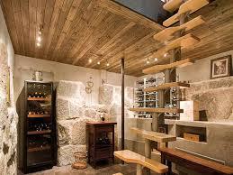 unfinished basement decorating ideas wine cellar with stylish