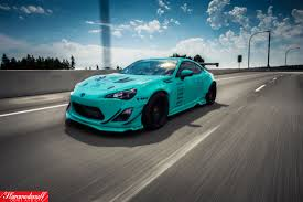 frs car sema built tiffany blue rocket bunny fr s rare cars for sale
