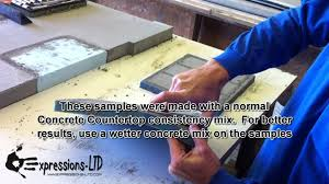 Concrete Driveway Paver Molds by Making Concrete Sample Square Cookies Mold Youtube