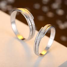 promise ring engagement ring and wedding ring set hammered center polished edges promise rings set 925