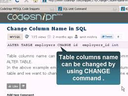 Sql Server Alter Table Change Column Name Change Column Name In Sql