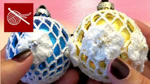 how to crochet lace ornament tutorial