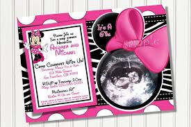 minnie mouse baby shower invitations wblqual com
