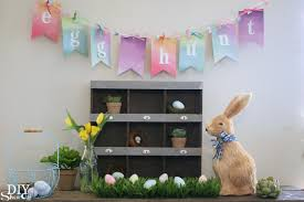 easter mantel decorations easter egg hunt mantel diy show diy decorating and home easter