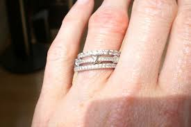 Stacked Wedding Rings by Any Ladies Here Wear A Wedding Band Stack And No Engagement Ring