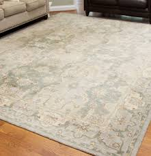 Pottery Barn Persian Rug by Large Tufted