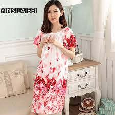 femme de chambre x d été à manches courtes robe de chambre longue satin chemise de nuit
