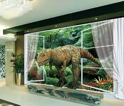 deco chambre dinosaure décoration murale tapisserie numérique papier peint 3d poste géant