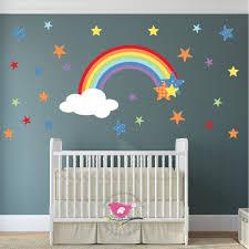 nursery wall art enchanted interiors magical rainbow stars nursery wall stickers