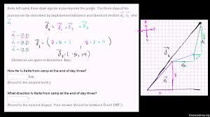 vector word problems practice vectors khan academy