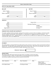 Generic Vehicle Bill Of Sale by 100 Used Car Bill Of Sale Template Pdf For Vehicle Bill Of Sale