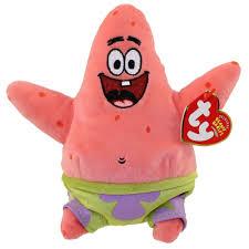 ty beanie baby patrick star spongebob movie promo 7 inch