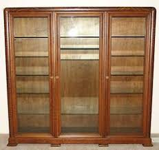 3 Door Display Cabinet Antique Oak Country Store Clothing Book China Dish