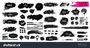 large set black paint ink brush stock vector 695816536 shutterstock
