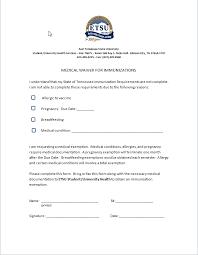 4 medical waiver form assistant cover letter