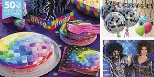 theme decorations disco 70s theme party supplies party city