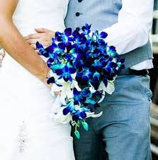 blue orchid flower blue orchid bouquet wedding bouquet in abbotsford bc buckets