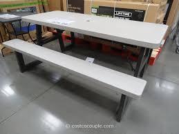 Costco Banquet Table Amazing Lifetime Folding Picnic Table Costco Home Design Ideas