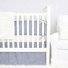 Denim Crib Bedding Awesome Denim Crib Skirt 5 Silver Checked Curtain Panels