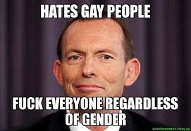 Fuck People Meme - hates gay people fuck everyone regardless of gender tony
