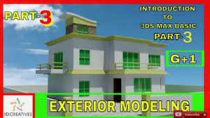 3d Max Home Design Tutorial by Basic Exterior Modeling In 3ds Max Tutorial Hindi Bhasha Part 3
