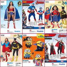 Superheroes Halloween Costumes Simplicity Sewing Pattern Super Hero Halloween Costume Batgirl