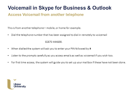 Emails For Business by Ulster Ac Uk Voice Mail In Skype For Business U0026 Outlook Skype For
