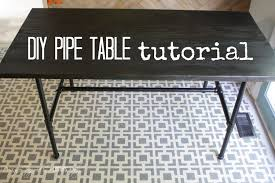 How To Build A Desk From Scratch Diy Pipe Table Tutorial How We Saved 1 800 Designer Trapped