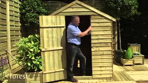 pressure treated overlap apex wooden garden shed youtube