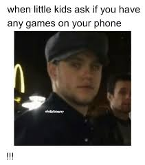 Kid On Phone Meme - when little kids ask if you have any games on your phone