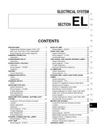 2001 nissan sentra electrical system section el pdf manual