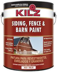 amazon com kilz exterior siding fence and barn paint red 1