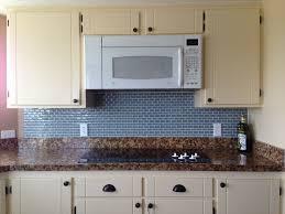 Blue Glass Tile Kitchen Backsplash Kitchen Sky Blue Glass Subway Tile Kitchen Backsplash With Dark