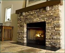 light creamy paint color with stone fireplace for the home