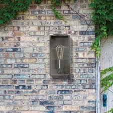 Industrial Outdoor Lighting by Mersey Outdoor Lantern Wall Light Stainless Steel From Litecraft