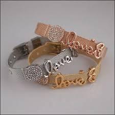 bracelet love ebay images Mesh slide charm bracelet love ebay jpg