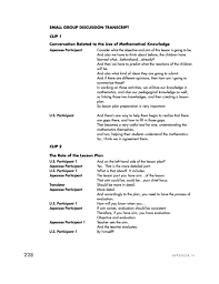 Small H by Appendix H Transcript Of Excerpts From Small Group Discussions