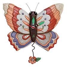 free flying butterfly clock allen designs studio