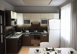 Kitchen Led Lighting Ideas by Small Modern Open Kitchen Design With White Curtain Window And Led
